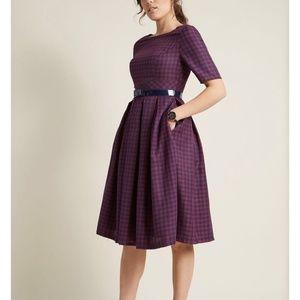 Modcloth Classic Plaid Dress